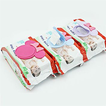 New Baby Wet Paper Lid Cartoon Mobile Wet Wipes Cover Wet Tissue Reusable Lid