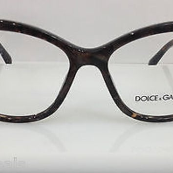 DOLCE & GABBANA DG 3138 COL 2589 BROWN MARBLE PLASTIC EYEGLASSES FRAME AUTHENTIC