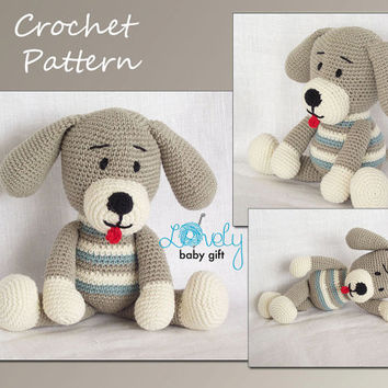 Amigurumi Crochet Pattern, Puppy, Dog, Amigurumi Crochet Animal Pattern, CP-124