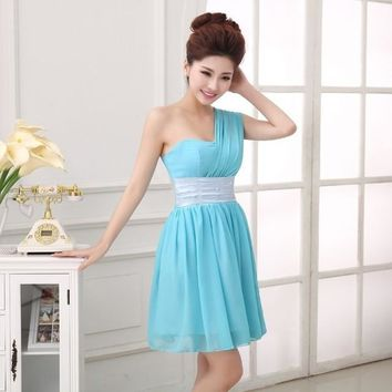 Robe demoiselle d'honneur 2017 new chiffon Aline turquoise bridesmaid dresses short plus size dresses under $ 50