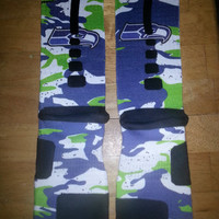 seattle seahawks custom nike elite socks