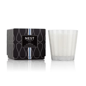 Linen 3-Wick Candle by Nest