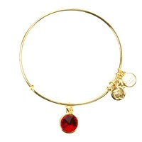 Alex and Ani July Birthstone Charm Bangle - Yellow Gold
