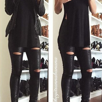 Moto Cutout Leggings