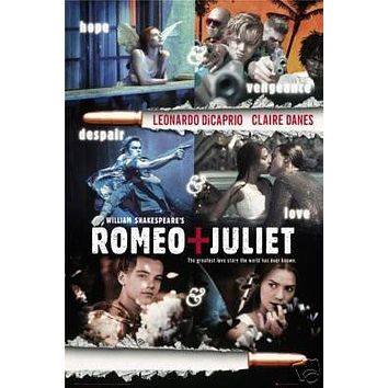 Romeo and Juliet Movie Poster - Leonardo Dicaprio 24x36