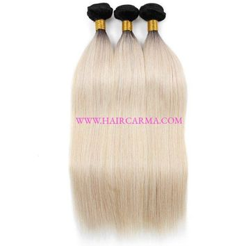 Brazilian Hair, Brazilian Straight Hair Bundles Ombre Blonde 613 Color 10A