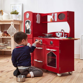 Teamson Kids - Retro Red Play Kichen (1 Piece)