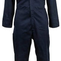MENS UNISEX QUALITY BOILER SUIT OVERALL COVERALL WORKWEAR MECHANIC NAVY BLUE NEW