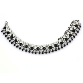 luxury banquet protein crystal choker