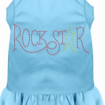 Rhinestone Rockstar Dress Baby Blue Sm (10)