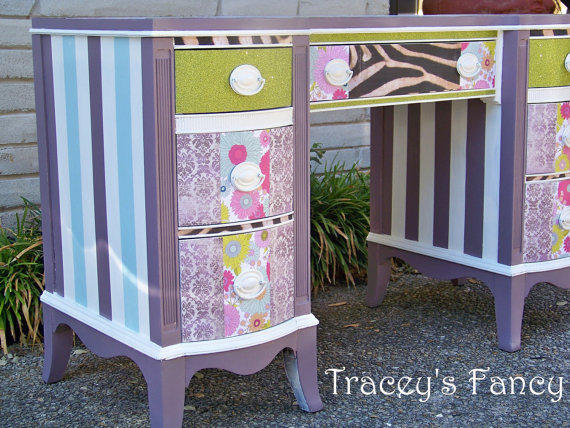 Painted Customized Fun and Funky Desk by TraceysFancy on Etsy