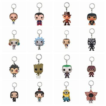 Harry Potter Dobby  Superman  Suicide squad ARROW Rick and Morty Niffler  Flash Action Figure Toy  With Keychain