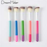 Professional Makeup Brushes Set 5 pcs Colorful Cosmetics Beauty Make Up Brushes Kabuki Kit Tools maquiagem Makeup Brushes