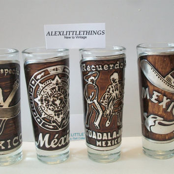 Reserva Especial Shot Glass Set Tequila Mexico Double Shot