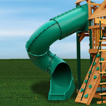 Gorilla Playsets Radical Ride Tube Slide for 7ft Deck Heights