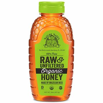 Nature Nate's Organic Raw & Unfiltered Honey 16 oz. (453g)