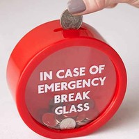 Emergency Break Glass Coin Bank