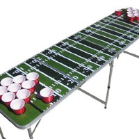 The Pong Squad Football Beer Pong Table with Holes