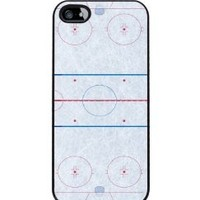 Ice Hockey Rink - iPhone 5 or 5s Cover, Cell Phone Case - Black