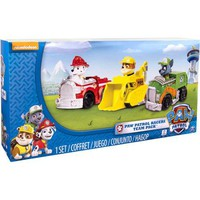 Nickelodeon Paw Patrol - Rescue Racers 3pk Vehicle Set Marshal Rubble, Rocky - Walmart.com