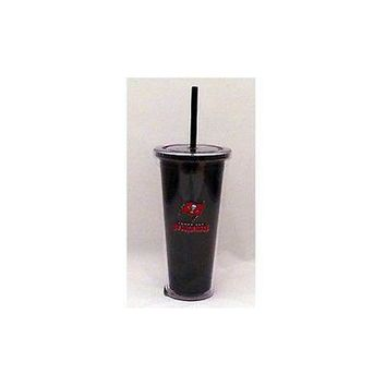 NFL Tampa Bay Buccaneers 22 oz Color Double Wall Acrylic Travel Tumbler Cup