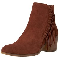 Kenneth Cole Reaction Womens Rotini Suede Stacked Heels Cowboy, Western Boots