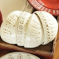 Lucia Embossed Dipping Bowls, Set of 4 | Pottery Barn