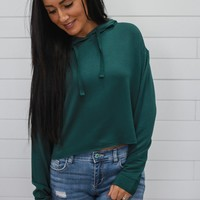 Casual Crop Sweatshirt