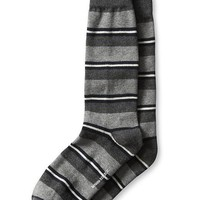 Banana Republic Jungle Stripe Sock Size One Size - Dark charcoal heather