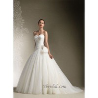 Ball Gown Sweetheart Chapel Train Tulle Wedding Dress WBG08348 - Wedding Dresses