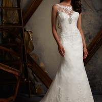 Blu by Mori Lee 5109 Vintage Lace Wedding Dress