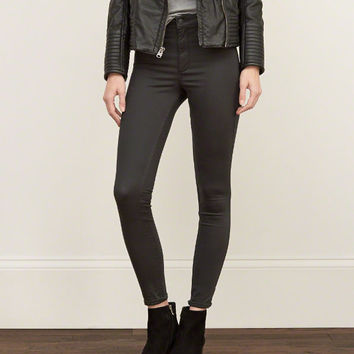 A&F High Rise Silk-Luxe Leggings