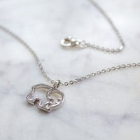 Sterling Silver Plated Ella Outline Necklace