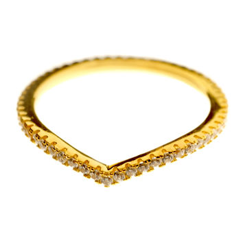 Tear Drop Ring - Gold