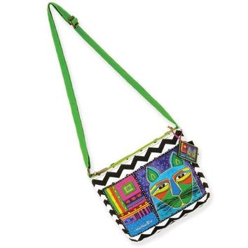 Laurel Burch Whiskered Cats Crossbody Bag