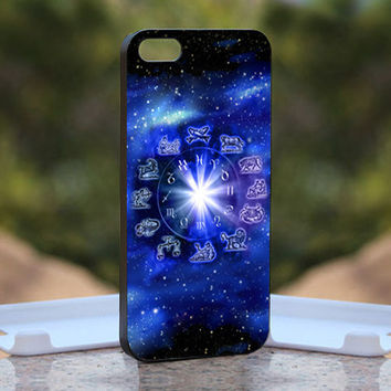 Nebula With Zodiac Horoscope - Design available for iPhone 4 / 4S and iPhone 5 Case - black, white and clear cases