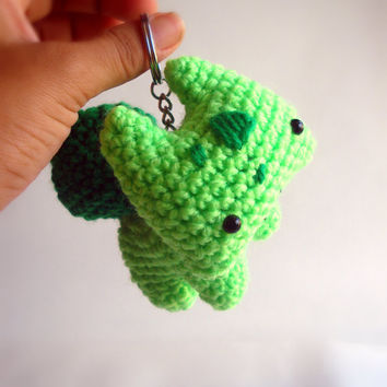Bulbasaur Kanto starter Pokemon amigurumi plush toy