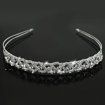 Wedding Tiaras and Crowns Bridal Party Homecoming Crystal Tiara Headband Prince Crown Hair accessories ES0431