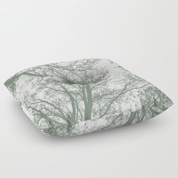 Abstract Trees Floor Pillow by ARTbyJWP