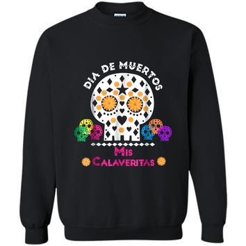 Day of the Dead Sugar Skull  for Kids & Teachers Printed Crewneck Pullover Sweatshirt
