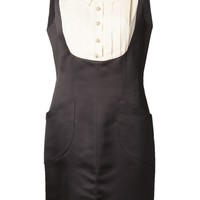 Chanel Vintage Pleated Bust Dress