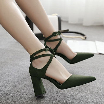Summer Shoes Woman sandals High Heels sandals women pointed toe shoes high heel sandals sexy ankle strap shoes zapatos mujer