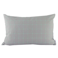 grid cushion / mint