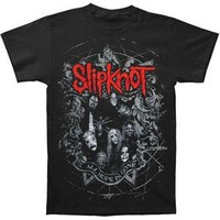 Slipknot Men's  Star Crest T-shirt Black