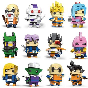 Decool compatible legoed dragon ball z super heros sets bricks heads brickheadz model Blocks building kids toys for minifigured