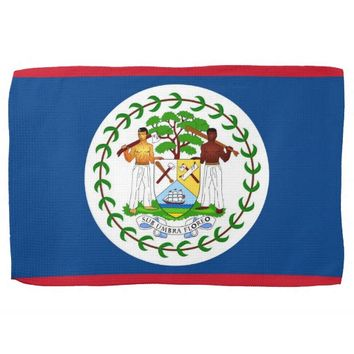 Kitchen towel with Flag of Belize