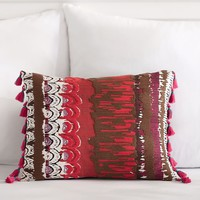 Painterly Printed Pillow Cover