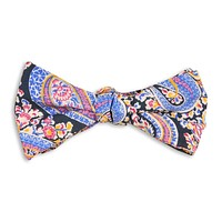 Pimm's Paisley Bow Tie in Navy by High Cotton