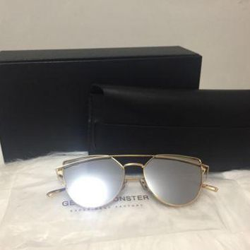 gentle monster love punch sunglasses gold 03