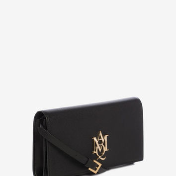 Calf Leather Insignia Pouch With Strap | Alexander McQueen